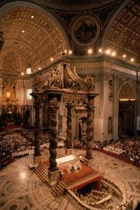 Interior of St Peter's Basilica by Vittoriano Rastelli