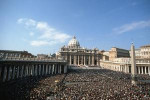 St Peter's Square, October 16th 1978 by Vittoriano Rastelli