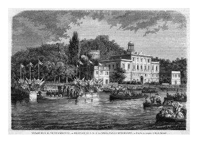 Vittorio Emanuele Lands at La Spezia--Giclee Print