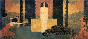 The Queen of Sheba Enthroned (La Regina Di Saba in Trono) by Vittorio Zecchin