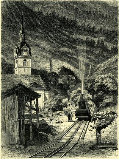 Vitznau Station on the Rigi 1464 Feet Above the Level of the Sea Switzerland--Giclee Print