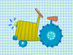 Blue Tractor by Viv Eisner