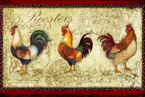 Three Roosters by Viv Eisner