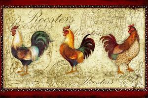 Three Roosters by Viv Eisner