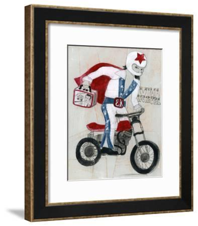 Viva Knievel-Stacy Milrany-Framed Art Print