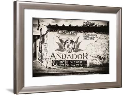 ¡Viva Mexico! B&W Collection - Andador Oaxaca-Philippe Hugonnard-Framed Photographic Print