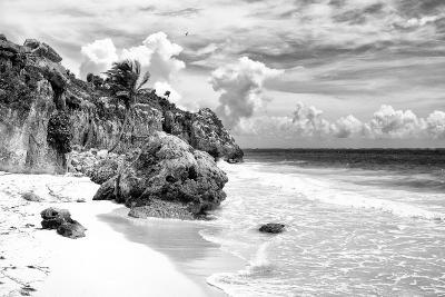 ¡Viva Mexico! B&W Collection - Caribbean Beach II-Philippe Hugonnard-Photographic Print