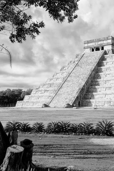 ?Viva Mexico! B&W Collection - Chichen Itza Pyramid IV-Philippe Hugonnard-Photographic Print