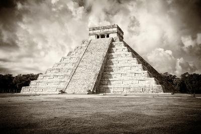 ?Viva Mexico! B&W Collection - Chichen Itza Pyramid VI-Philippe Hugonnard-Photographic Print