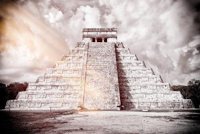 ?Viva Mexico! B&W Collection - Chichen Itza Pyramid XII-Philippe Hugonnard-Photographic Print