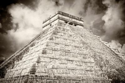 ?Viva Mexico! B&W Collection - Chichen Itza Pyramid XIII-Philippe Hugonnard-Photographic Print