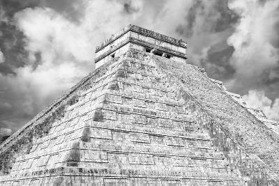 ?Viva Mexico! B&W Collection - Chichen Itza Pyramid XIV-Philippe Hugonnard-Photographic Print