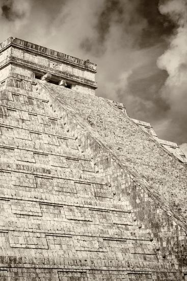 ?Viva Mexico! B&W Collection - Chichen Itza Pyramid XV-Philippe Hugonnard-Photographic Print
