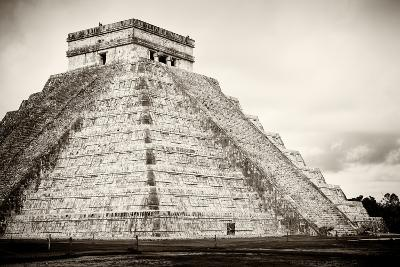 ¡Viva Mexico! B&W Collection - Chichen Itza Pyramid XXI-Philippe Hugonnard-Photographic Print