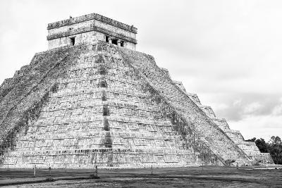 ¡Viva Mexico! B&W Collection - Chichen Itza Pyramid XXII-Philippe Hugonnard-Photographic Print