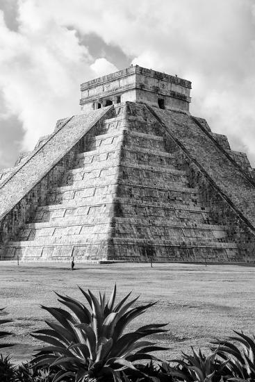 ?Viva Mexico! B&W Collection - El Castillo Pyramid V - Chichen Itza-Philippe Hugonnard-Photographic Print