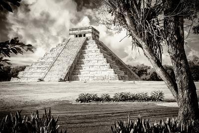 ?Viva Mexico! B&W Collection - El Castillo Pyramid XII - Chichen Itza-Philippe Hugonnard-Photographic Print
