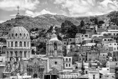 ?Viva Mexico! B&W Collection - Guanajuato Cityscape-Philippe Hugonnard-Photographic Print