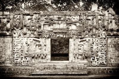 ¡Viva Mexico! B&W Collection - Hochob Mayan Pyramids - Campeche-Philippe Hugonnard-Photographic Print