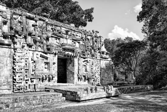 ¡Viva Mexico! B&W Collection - Hochob Mayan Pyramids III - Campeche-Philippe Hugonnard-Photographic Print