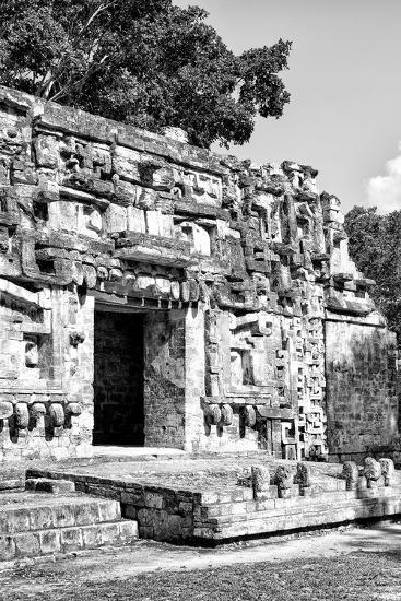 ¡Viva Mexico! B&W Collection - Hochob Mayan Pyramids V - Campeche-Philippe Hugonnard-Photographic Print