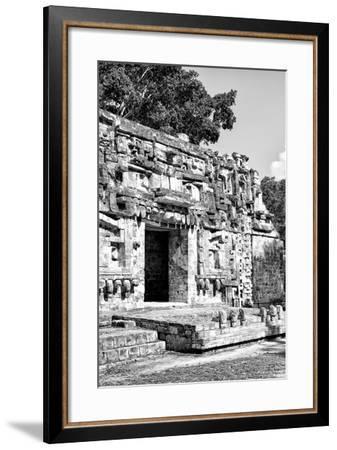 ¡Viva Mexico! B&W Collection - Hochob Mayan Pyramids V - Campeche-Philippe Hugonnard-Framed Photographic Print