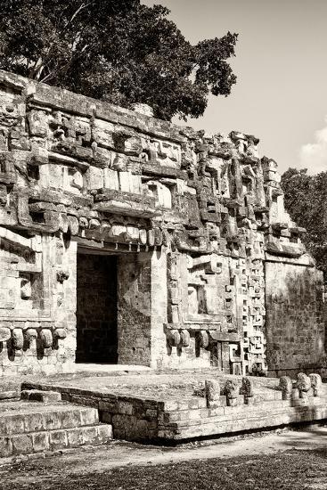 ?Viva Mexico! B&W Collection - Hochob Mayan Pyramids VI - Campeche-Philippe Hugonnard-Photographic Print
