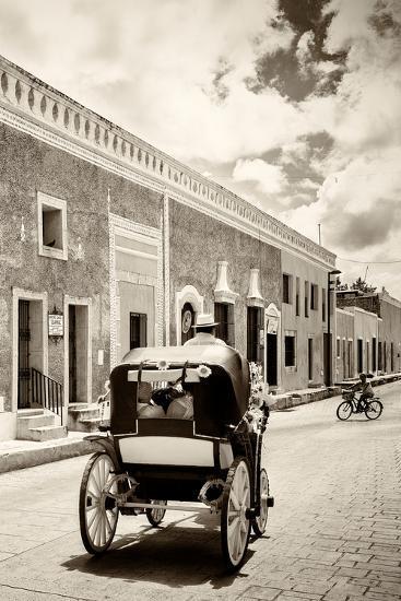 ?Viva Mexico! B&W Collection - Izamal the Yellow City III-Philippe Hugonnard-Photographic Print