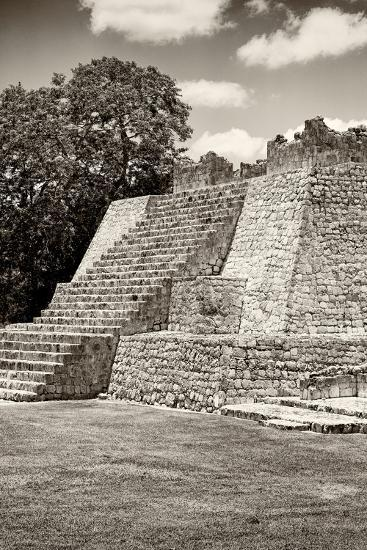 ?Viva Mexico! B&W Collection - Maya Archaeological Site - Campeche-Philippe Hugonnard-Photographic Print