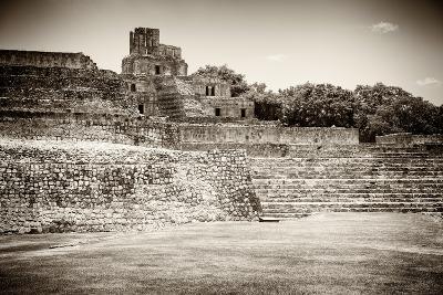 ?Viva Mexico! B&W Collection - Maya Archaeological Site - Edzna-Philippe Hugonnard-Photographic Print