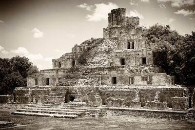 ?Viva Mexico! B&W Collection - Maya Archaeological Site II - Campeche-Philippe Hugonnard-Photographic Print