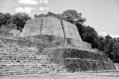 ?Viva Mexico! B&W Collection - Maya Archaeological Site III - Edzna-Philippe Hugonnard-Photographic Print