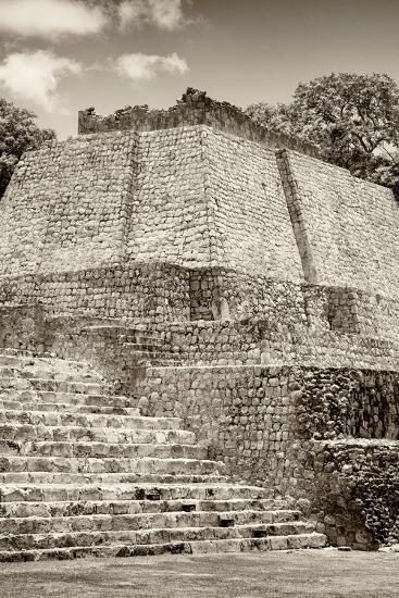 ?Viva Mexico! B&W Collection - Maya Archaeological Site IV - Edzna-Philippe Hugonnard-Photographic Print