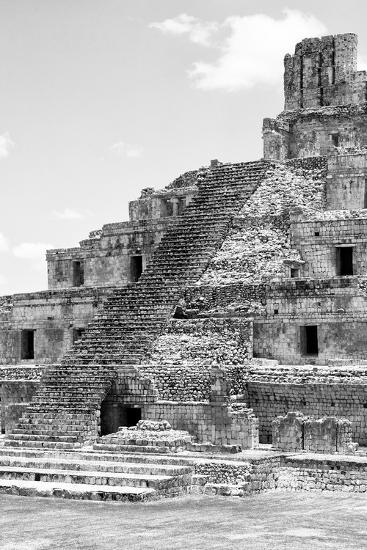 ?Viva Mexico! B&W Collection - Maya Archaeological Site V - Campeche-Philippe Hugonnard-Photographic Print