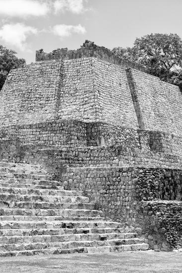 ?Viva Mexico! B&W Collection - Maya Archaeological Site V - Edzna-Philippe Hugonnard-Photographic Print
