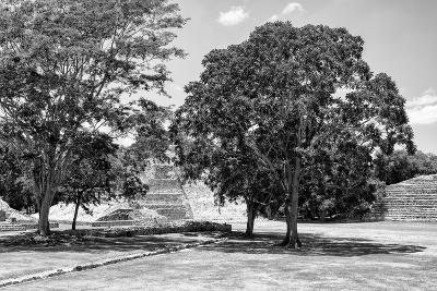 ¡Viva Mexico! B&W Collection - Maya Archaeological Site VI - Edzna-Philippe Hugonnard-Photographic Print