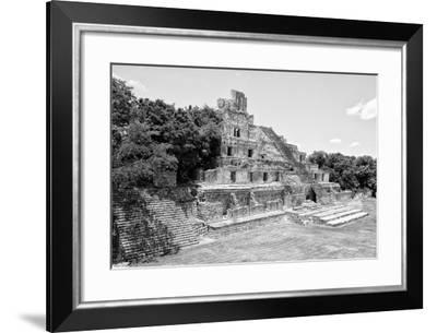 ¡Viva Mexico! B&W Collection - Maya Archaeological Site VII - Campeche-Philippe Hugonnard-Framed Photographic Print
