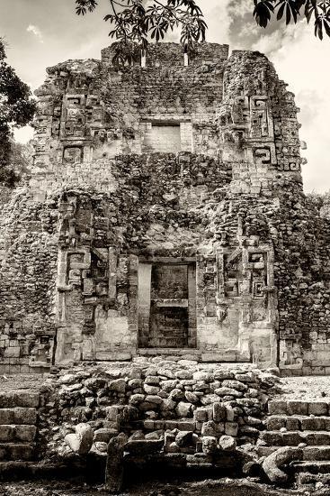 ¡Viva Mexico! B&W Collection - Mayan Ruins V-Philippe Hugonnard-Photographic Print