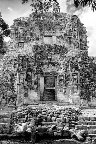 ¡Viva Mexico! B&W Collection - Mayan Ruins VI-Philippe Hugonnard-Photographic Print