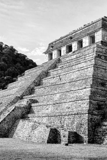 ?Viva Mexico! B&W Collection - Mayan Temple of Inscriptions III - Palenque-Philippe Hugonnard-Photographic Print