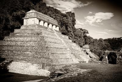 ?Viva Mexico! B&W Collection - Mayan Temple of Inscriptions in Palenque-Philippe Hugonnard-Photographic Print