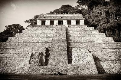 ?Viva Mexico! B&W Collection - Mayan Temple of Inscriptions IV - Palenque-Philippe Hugonnard-Photographic Print