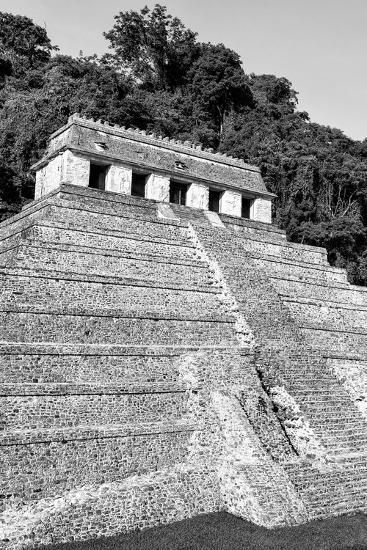 ?Viva Mexico! B&W Collection - Mayan Temple of Inscriptions IX - Palenque-Philippe Hugonnard-Photographic Print