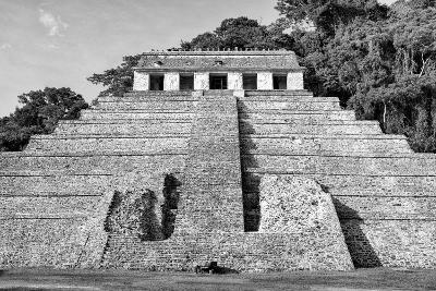 ?Viva Mexico! B&W Collection - Mayan Temple of Inscriptions V - Palenque-Philippe Hugonnard-Photographic Print