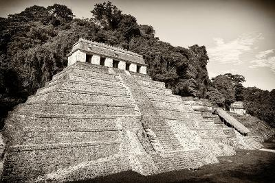 ?Viva Mexico! B&W Collection - Mayan Temple of Inscriptions VI - Palenque-Philippe Hugonnard-Photographic Print