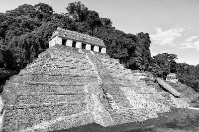 ?Viva Mexico! B&W Collection - Mayan Temple of Inscriptions VII - Palenque-Philippe Hugonnard-Photographic Print