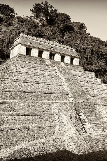 ?Viva Mexico! B&W Collection - Mayan Temple of Inscriptions VIII - Palenque-Philippe Hugonnard-Photographic Print