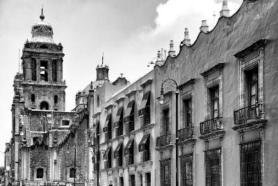 ?Viva Mexico! B&W Collection - Mexico City Facades II-Philippe Hugonnard-Photographic Print