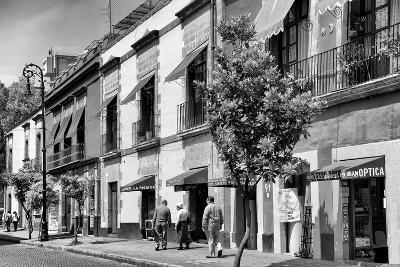¡Viva Mexico! B&W Collection - Mexico City Facades-Philippe Hugonnard-Photographic Print