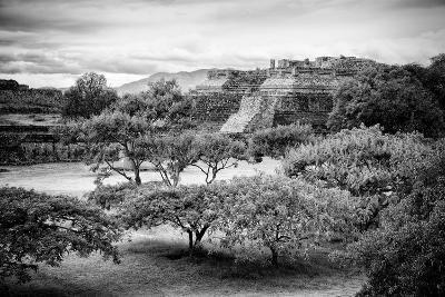 ¡Viva Mexico! B&W Collection - Monte Alban Pyramids II-Philippe Hugonnard-Photographic Print